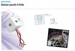 Sensor puzzle 4 kids, tangible puzzle game by Sabrina Halbe