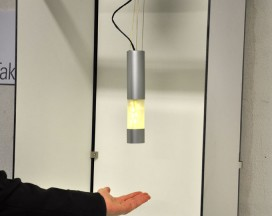 timid, touchless interactive lamp by Tanja Steinebach and Erik Wedeward